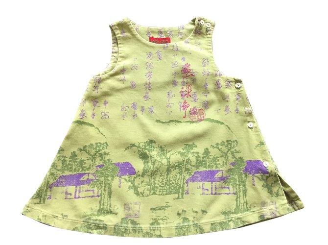 Kenzo Dresses Dresses Cotton Green ref.68264