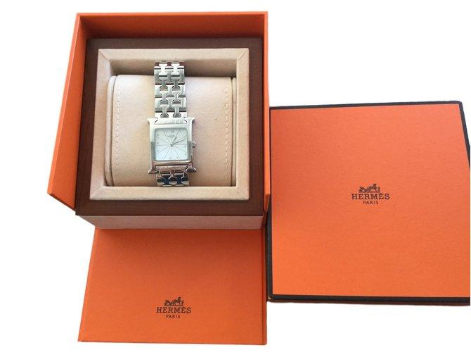 Hermès Heure H Silvery Steel  ref.68310