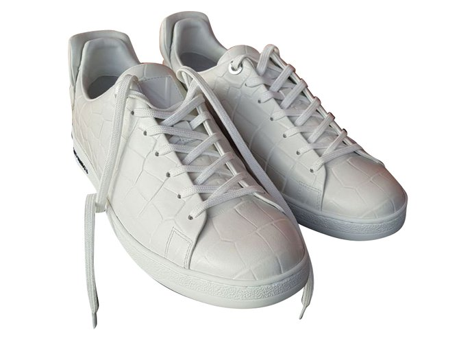 Baskets homme Louis Vuitton Baskets homme Cuir Blanc ref.68392 ... f6afce69e9b