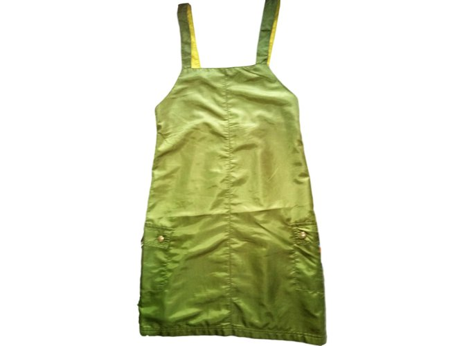 Robes fille Kenzo Robe Polyamide Kaki ref.68480