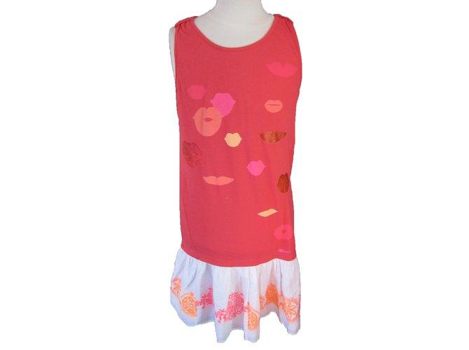 Robes fille Catimini Robe Coton Multicolore ref.68485