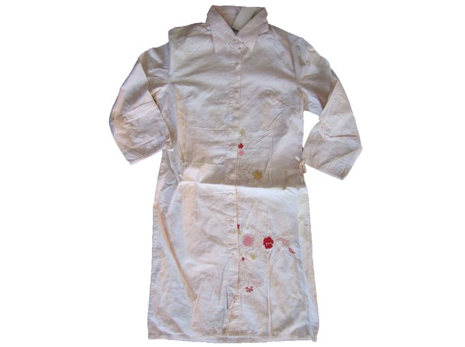 Robes fille Kenzo Robe Coton Crème ref.68512