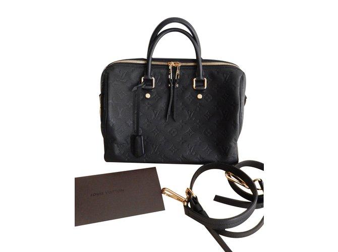 9fe962c623 Sacs à main Louis Vuitton Speedy 30 Cuir Noir ref.68544 - Joli Closet