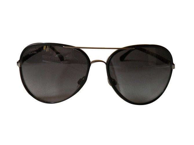 a4f9f3208e8ae Lunettes Chanel pilote Autre Noir ref.68885 - Joli Closet