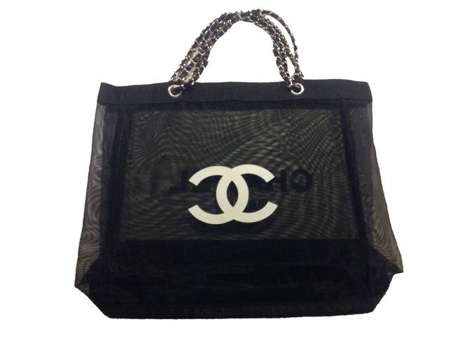 Chanel Bag Tote Vip Gifts Polyamide Black Ref 68950
