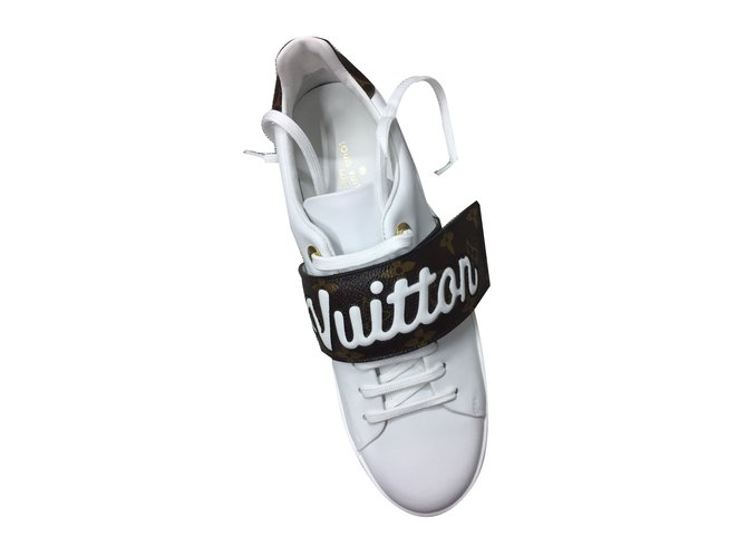 Louis Vuitton Sneakers Sneakers Leather White Ref 68951 Joli Closet