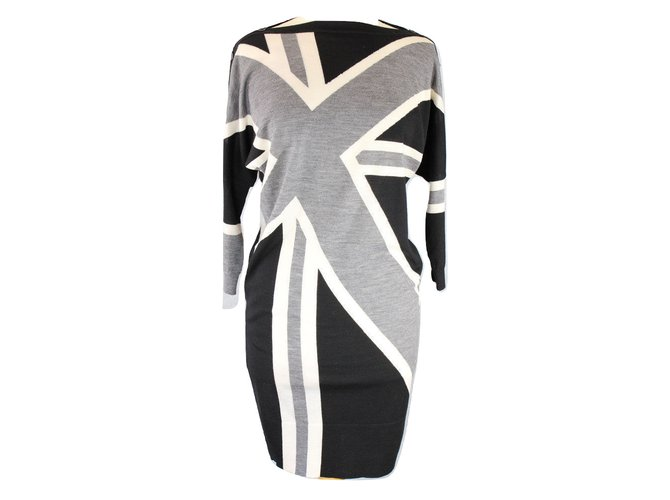Alexander Mcqueen dress Dresses Wool Grey ref.69010