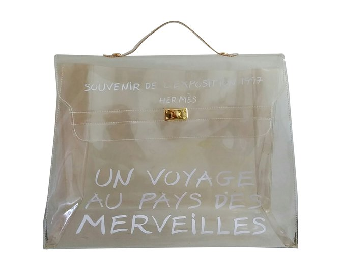 61bca1de86dc Hermès Kelly 40 límited vinyl bag Handbags Plastic White ref.69225 ...