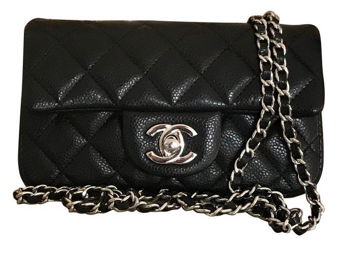8b586e2da9 Sacs à main Chanel extra mini classic flap bag Cuir Noir ref.69264 ...
