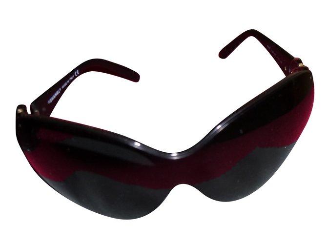 Lunettes Chanel Lunettes de soleil Plastique Noir ref.69365 - Joli ... 9fc3a6374af3