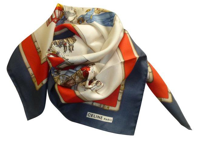Foulards Céline Foulard Soie Multicolore ref.69369 - Joli Closet 4f5267edb9f