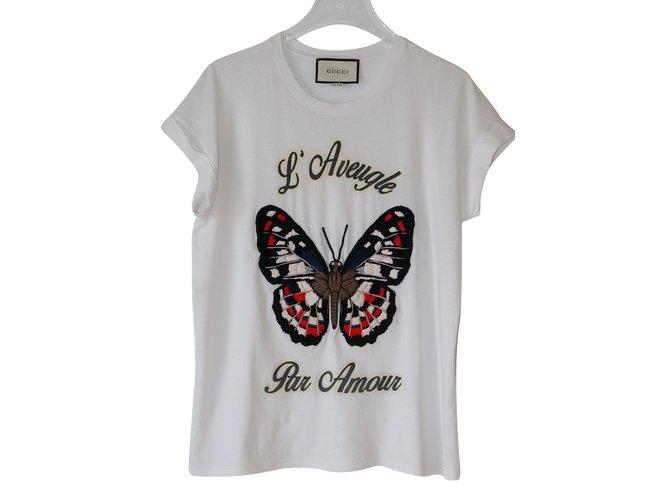 6bb72d33 Gucci Butterfly T-Shirt Tops Cotton White ref.69384 - Joli Closet