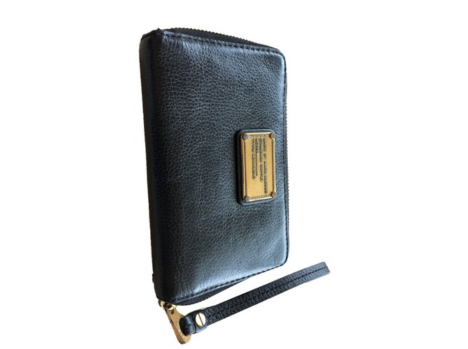 54bdac251bdac Marc by Marc Jacobs Worker wallet Purses, wallets, cases Leather Black  ref.69436