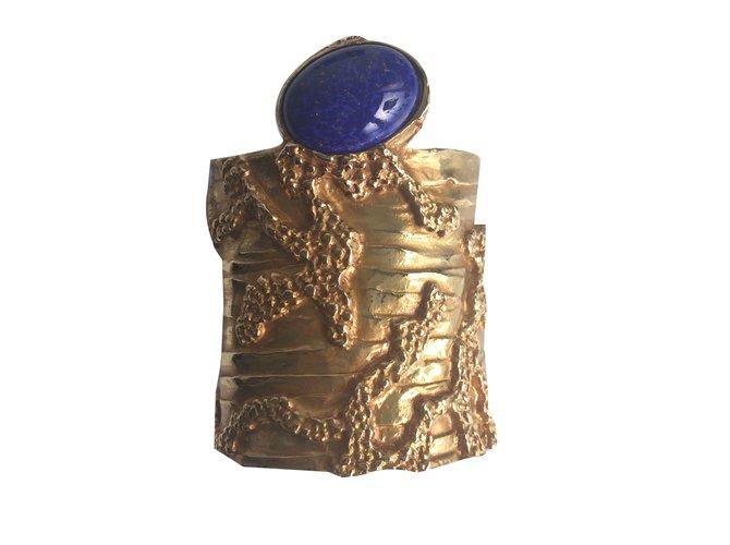 a8243d33455 Yves Saint Laurent Arty Bracelets Metal Golden ref.69523 - Joli Closet