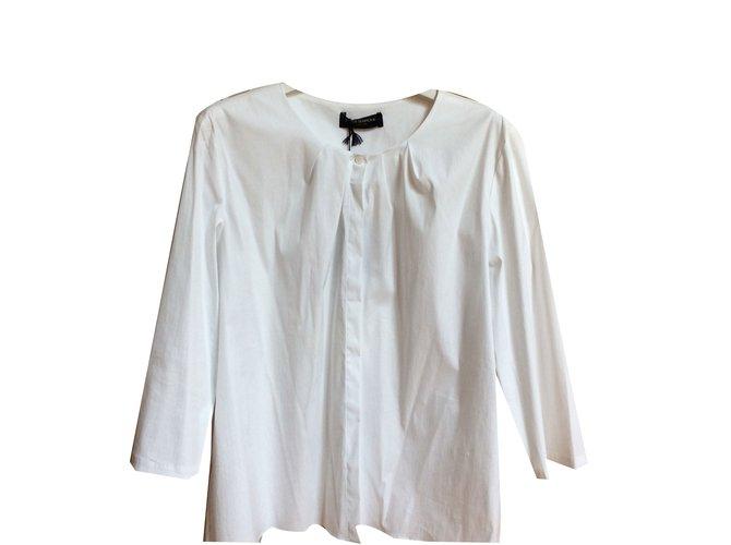 Piazza Sempione Skirt White Cotton  ref.69535