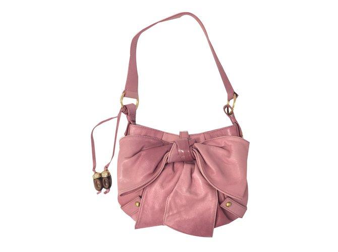 Yves Saint Laurent Handbag Handbags Leather Pink ref.69657 - Joli Closet 80eca9c45f