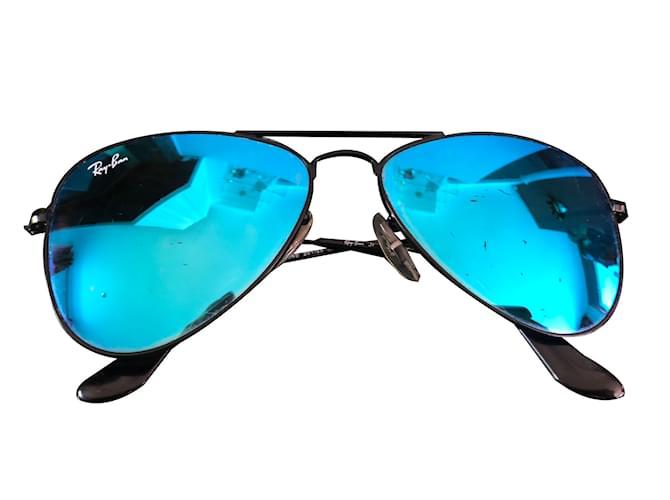 ray ban aviator bleu miroir