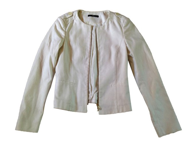 a6c166b9 Hugo Boss Jacket Jackets Cotton White ref.69913 - Joli Closet