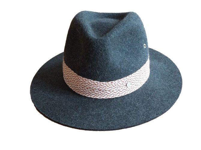 Maison Michel Hat Hats Other Grey ref.70168