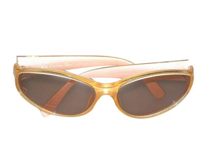 a4b1103bec698 Christian Dior Sunglasses Sunglasses Plastic Yellow ref.70180 - Joli ...