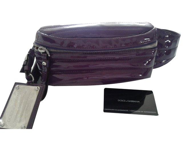 fa663c4da5 Dolce   Gabbana Clutch bags Clutch bags Patent leather Purple ref.70233