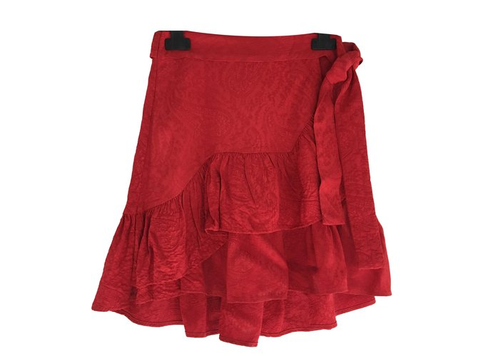 jupe volantée maje rouge
