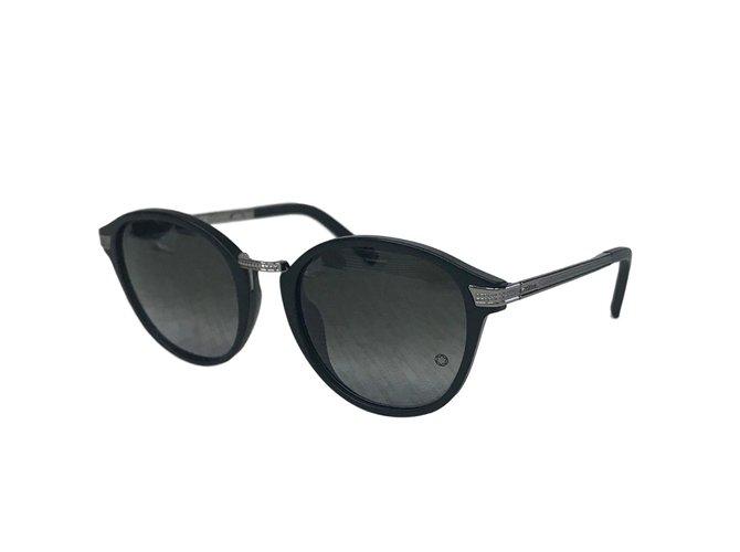 e76c0d44cfa69 Lunettes homme Montblanc lunettes soleil Métal Noir ref.70304 - Joli ...