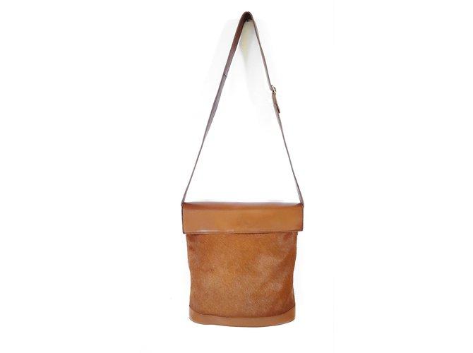 Autre Marque Jean Louis Imbert Handbag Handbags Pony Style Calfskin Brown Ref 70313