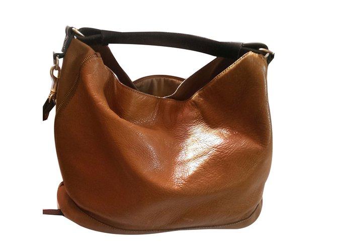 Massimo Dutti Handbags Leather Brown Ref 70354