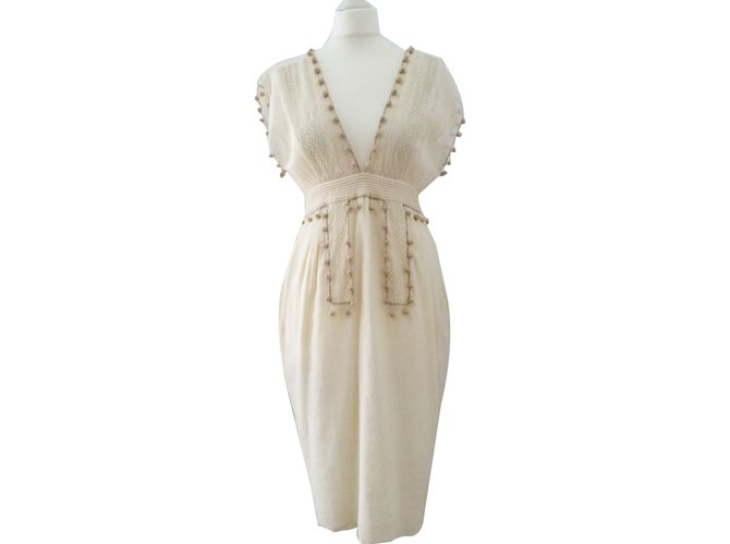 Chloé Dress Dresses Cotton Cream ref.70367