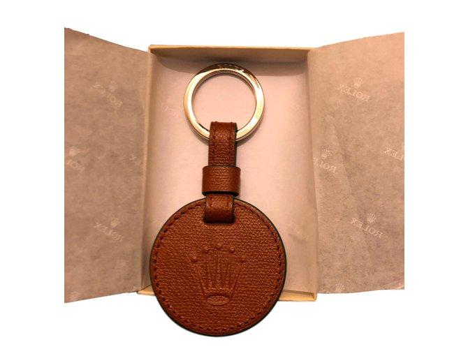 9727f99fe02 Petite maroquinerie homme Rolex Porte clefs Cuir Marron