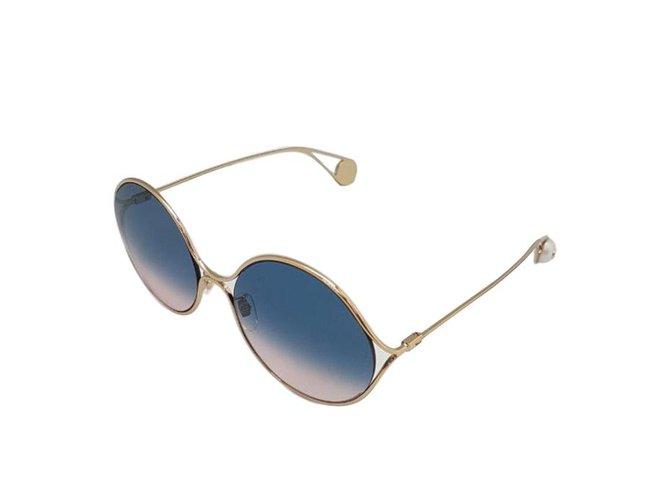 94669b06ec399 Lunettes Gucci lunettes ronde en metal collection été 2018 Métal Doré  ref.70417