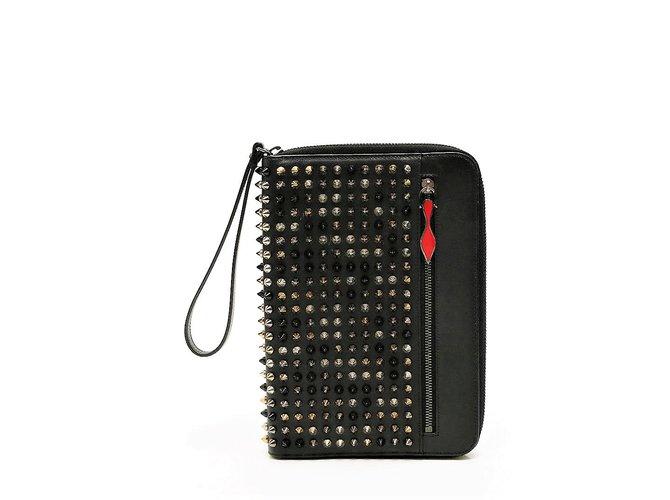 403143daacc3 Christian Louboutin Clutch iPad Case Clutch bags Leather Black ref.70466