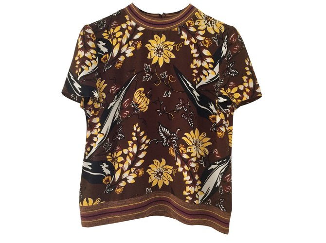 eb34579de15801 Prada Top Tops Silk Multiple colors ref.70467 - Joli Closet