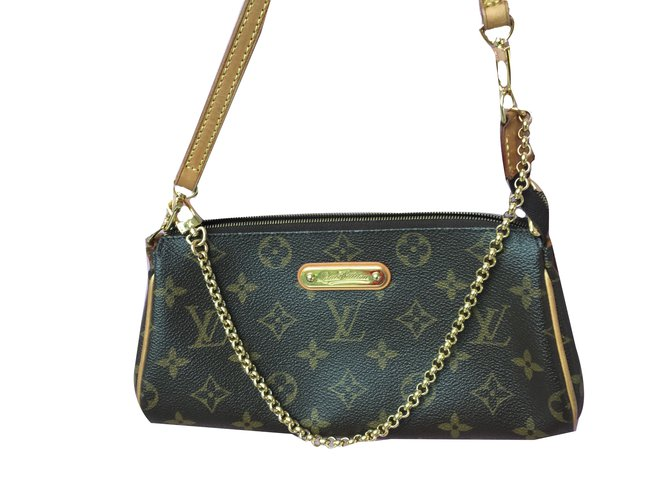 cfba979f0ce6 Louis Vuitton EVA Handbags Cloth Brown ref.70554 - Joli Closet