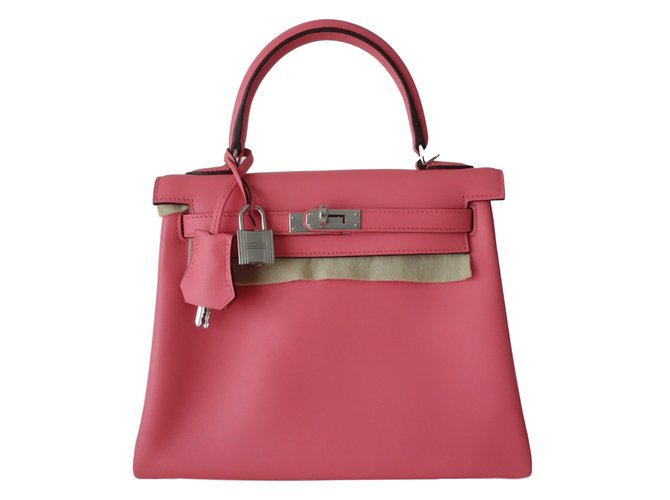 Sacs à main Hermès Kelly 25 Cuir Rose ref.70630