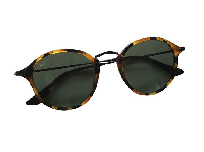 a0cbd86809 Ray-Ban Round Fleck Havane Sunglasses Acetate Leopard print ref.70640