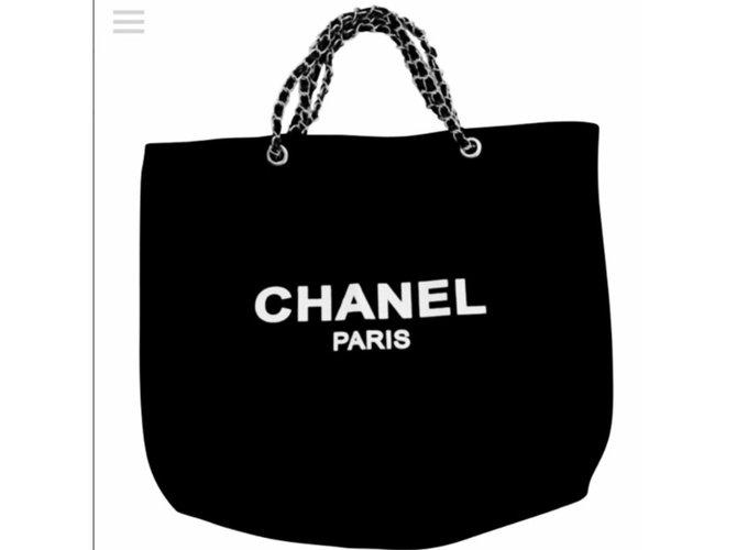 Cadeaux VIP Chanel Sacs à main Toile Noir ref.70660