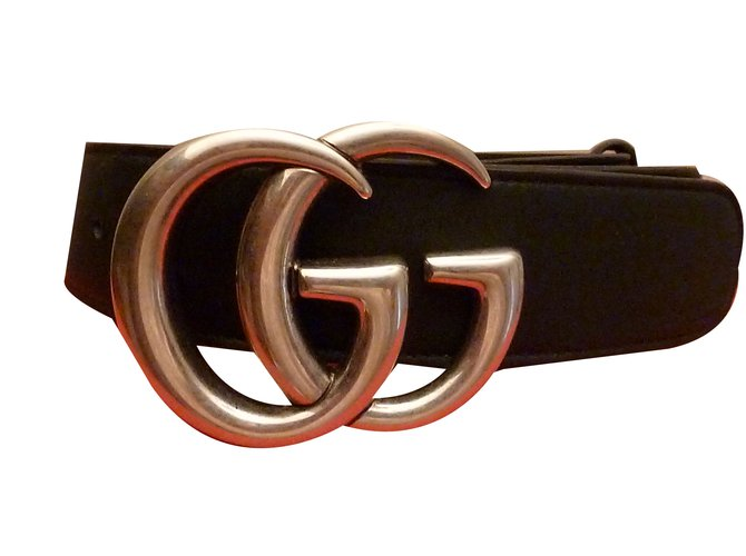 63a81fcf801 Ceintures Gucci Ceinture Cuir Noir ref.70720 - Joli Closet