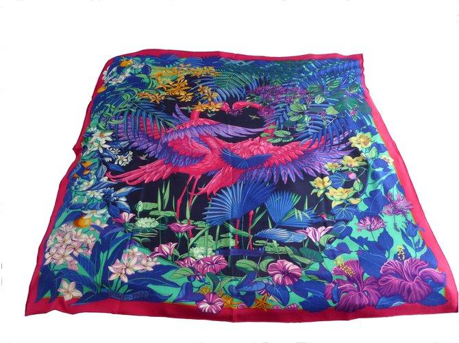 c825c6ba16a6 Foulards Hermès châle cachemire soie 140 x 140 cm Cachemire Multicolore  ref.70768
