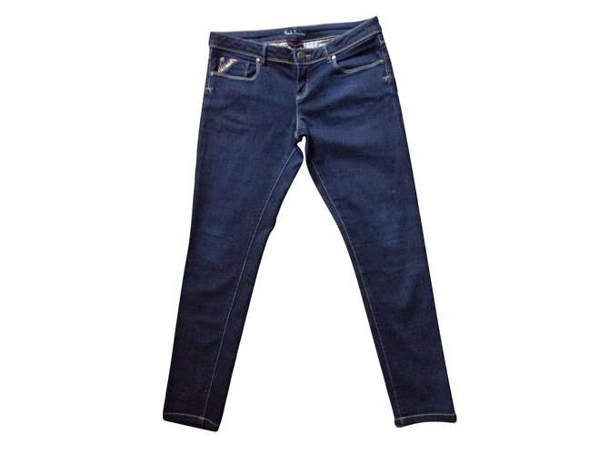 Pantalons fille Paul Smith JEANS SLIM Coton Bleu ref.70856