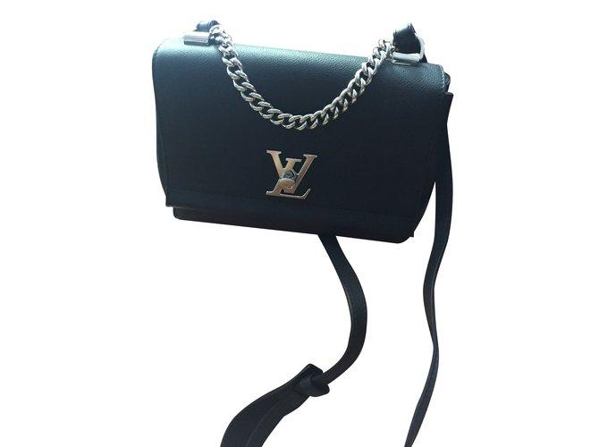 f3a90170c5c2 Louis Vuitton Lock me II BB Handbags Leather Black ref.70859 - Joli ...