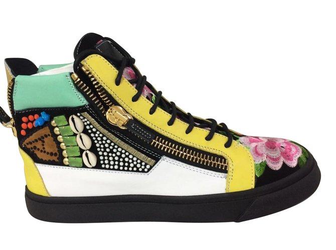 Giuseppe Zanotti Sneakers Sneakers Leather Multiple colors ref.70889 ... 6e4a5591b25d