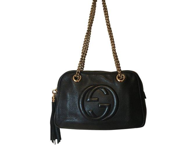 12f9c14b7cf Sacs à main Gucci Soho Cuir Noir ref.70948 - Joli Closet