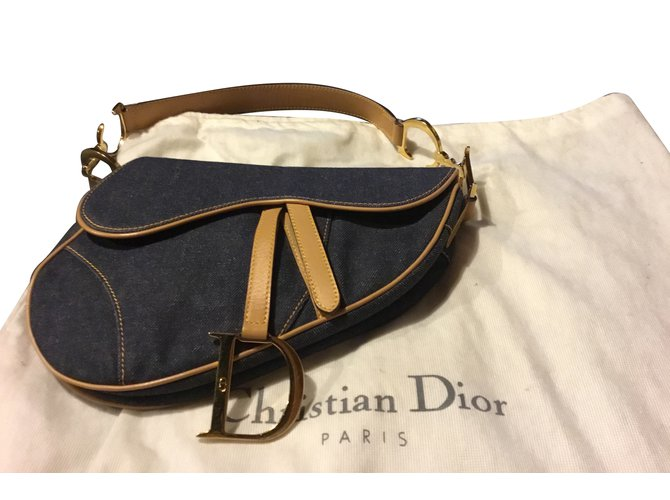 3d3a50f11c Christian Dior Selle de cheval Handbags Denim Blue ref.71015 - Joli ...