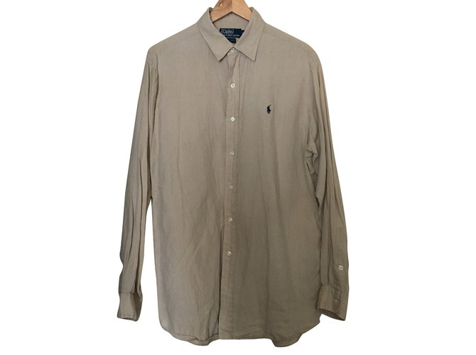 Chemises Polo Ralph Lauren Chemise Lin Sable ref.71020 - Joli Closet 27769c35914c