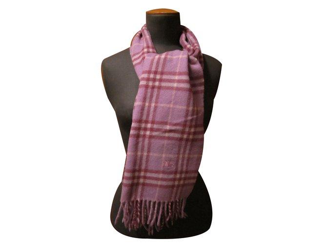 Burberry Scarves Scarves Wool Prune ref.71148