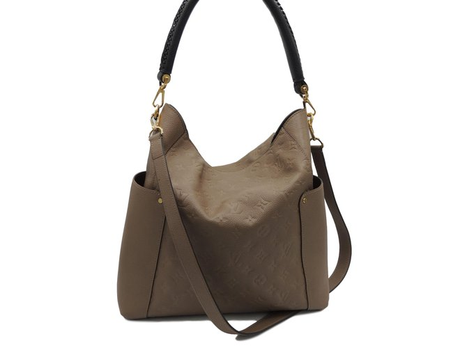 b45a0058201f Louis Vuitton Bagatelle Handbags Leather Taupe ref.71328 - Joli Closet