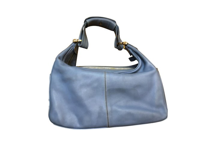 0e1003b0e7bfd Tod's Handbags Handbags Patent leather Blue ref.71371 - Joli Closet