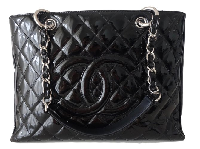 Chanel Gst Handbags Patent Leather Black Ref 71407